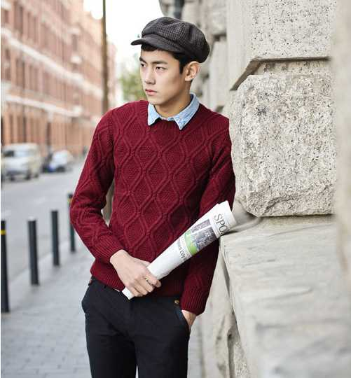New Arrive In Europe And Retro Topselling Mens Clothing Cable Knit