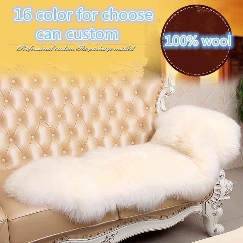 Doux 100% vraie peau de mouton shaggy laine tapis et tapis pour salon chaise couverture luxe garder au chaud épaissir maison tapis tapis