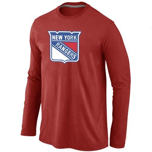 NHL New York Rangers Big & Tall Logo red Long Sleeve T-Shirt