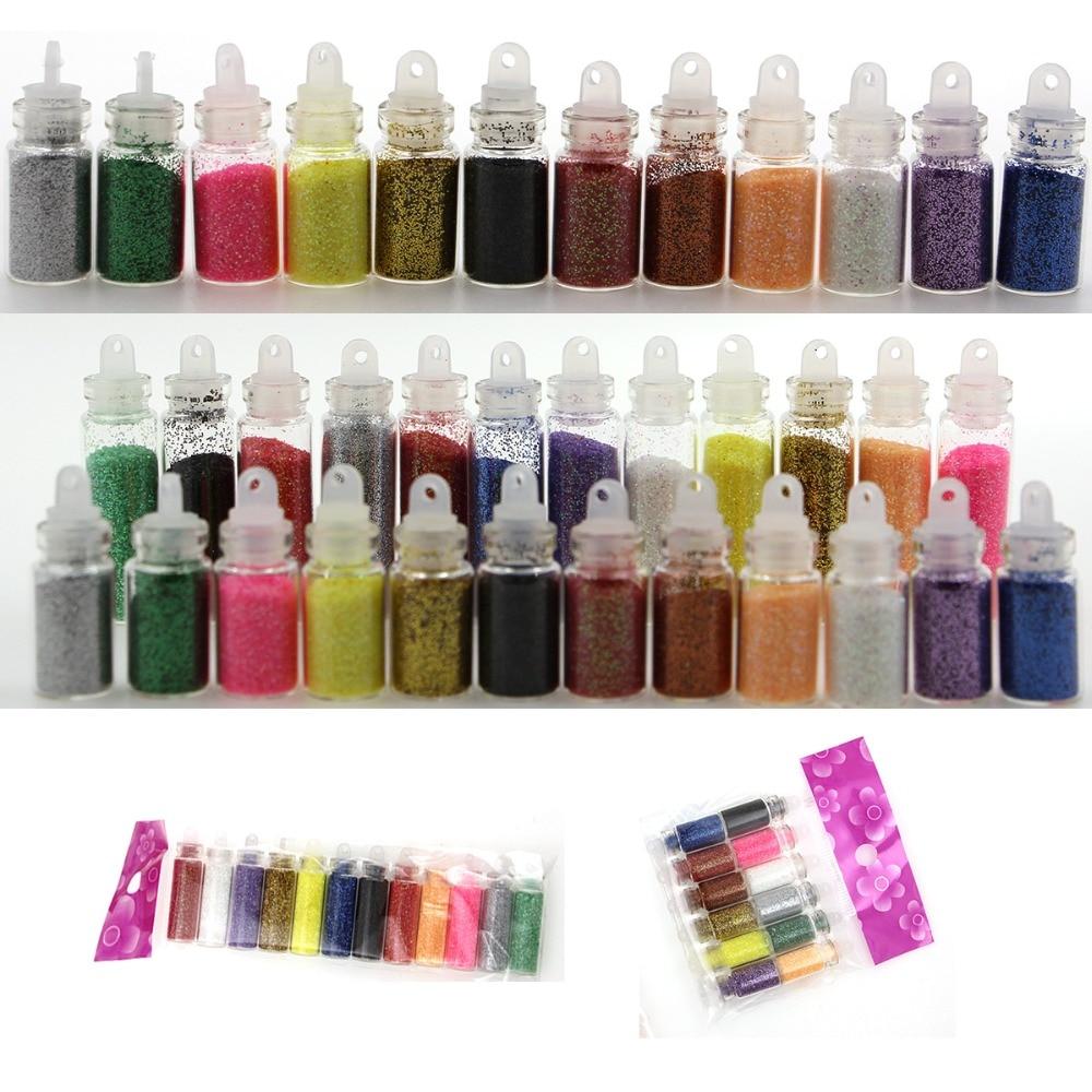 XW621 Laser Glitter per unghie Polvere Splendido Lucido colorato Polvere Polvere Manicure Unghie artistiche di Scintillio Della Decorazione