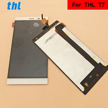 For THL T7 LCD Display +Touch Screen+ Tools  Digitizer Assembly Replacement Accessories For Phone new original black lcd display and touch screen touch panel digitizer assembly screw driver tools for thl w11 smart cell phone