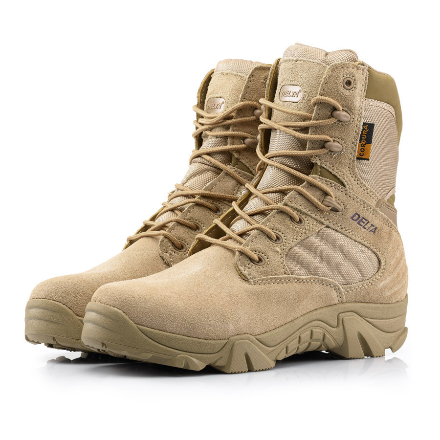 2019 High Quality Men s Delta Military Tactical Boots Waterproof Non Slip Outdoor Black SneakersTravel Shoes