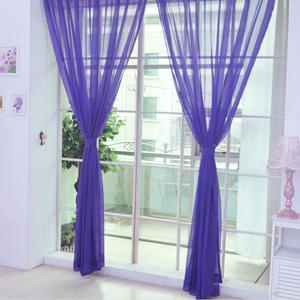 Image 5 - Colors Tulle Translucent Curtain Door Window Curtain Washable Drape Panel Sheer Scarf Valances Home Decoration Curtains