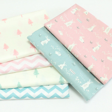 New 100% Twill Cotton Fabric By Meter For Baby The Cloth Home Textile DIY Sewing Craft Material Telas to Patchwork Rabbit Trees