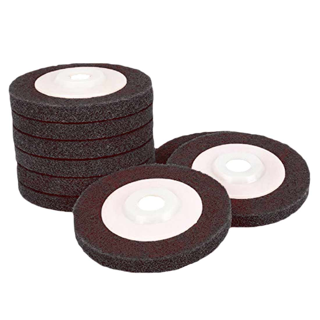 1Pc 100mm Nylon Fiber Polishing Wheel Grinding Disc Abrasive Tools Materials Surface Decoration For Angle Grinder