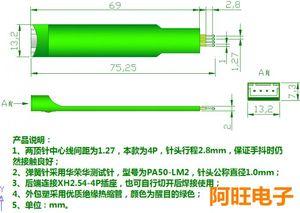 Image 2 - 1.27 4P STC Burning Needle Test Needle Write Program Probe 4 Feet Spring Needle 1.27mm 4P