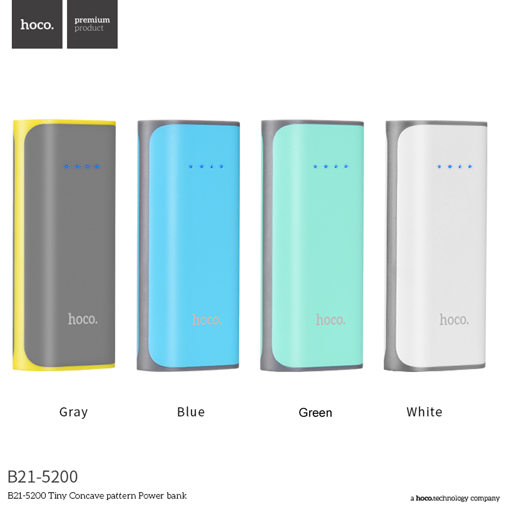 HOCO B21 Power Bank 5200mAh Battery Charger USB Ports LED Diplay for Xiaomi For Huawei 8