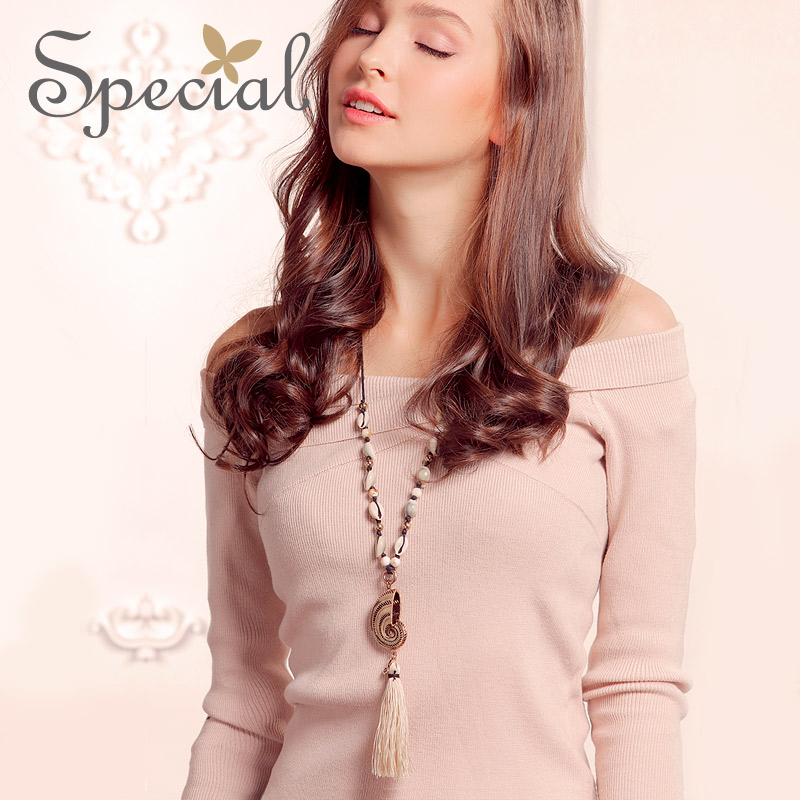 Special Fashion Nautilus Design Long Necklace Sweater Chain Tassel Necklaces & Pendants  ...