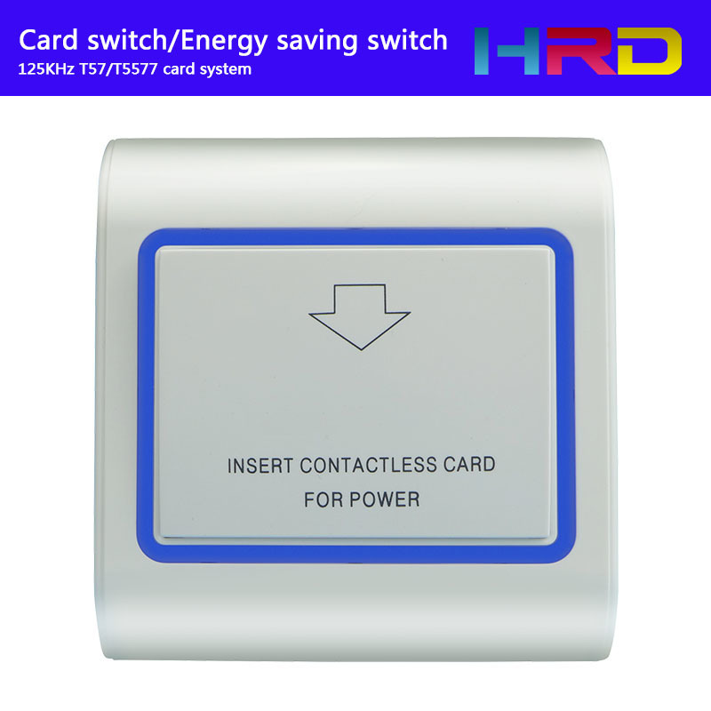 Access Control Security & Protection Round Gold Switch T57 125khz Power Switch Insert Hotel Key Card To Take Energy Guest Keycard Holder Wall Reader Promix Rfid