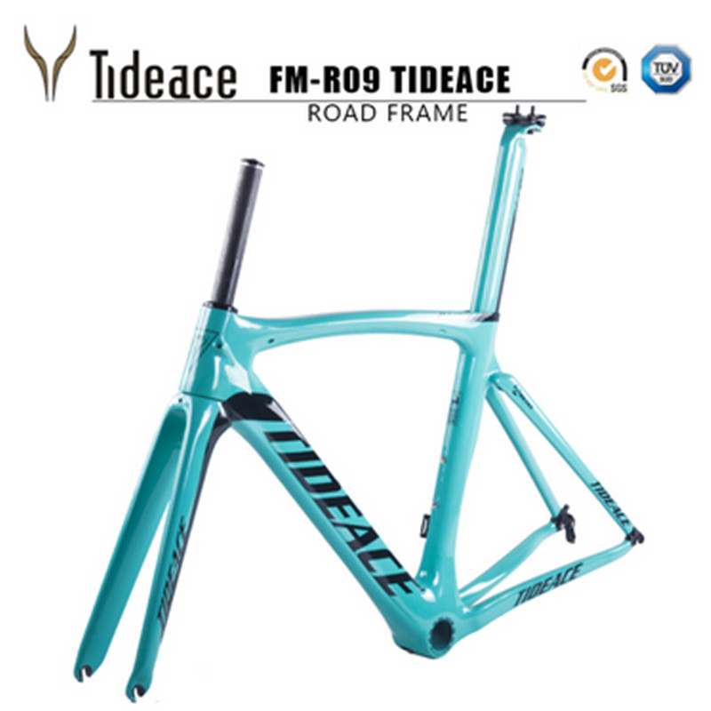 2017 Tideace Carbon Bike Frame 700C Bicycle Carbon Road Frameset With Fork And PF30BB Accessories V Brake Chinese Carbon Frames
