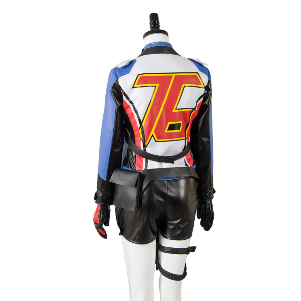 cbbccab6c OW Game Soldier:76 Genderbend Cosplay Costume Coat Dress Suit Outfit ...
