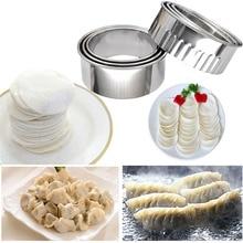 OLOEY Kitchenware 3pcs/lot Dumpling Maker Mold Pastry Tools Circle Flower Dumplings Cutter Press Bake Kitchen Accessories Gadget