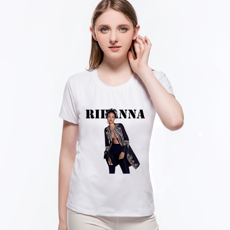 New Arrival Summer Rihanna <font><b>3D</b></font> Printed Tshirt Harajuku Punk Rock Music Women <font><b>Shirts</b></font> Camisetas Hip-Hop <font><b>Sexy</b></font> <font><b>T</b></font> <font><b>Shirt</b></font> L9-G82 image