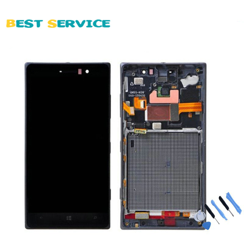 For Nokia Lumia 830 LCD Display and Touch Screen Diaplay Digitizer Assembly with Frame Black Tools