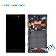 Pour Nokia Lumia 830 LCD Affichage et Écran Tactile Diaplay Digitizer Assemblée avec Cadre Noir + Outils Livraison Gratuite