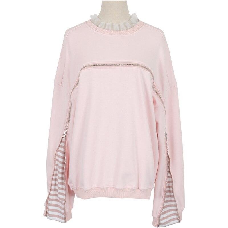 Femmes sweat ui même Style doux rose coréen Hoodies automne Harajuku Kpop moletom feminino vêtements Streetwear sudaderas