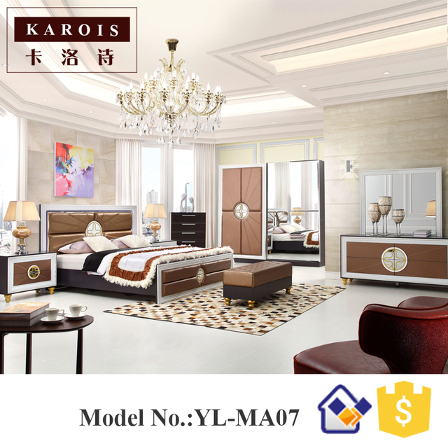European style royal furniture italian bedroom set-in Beds from ...