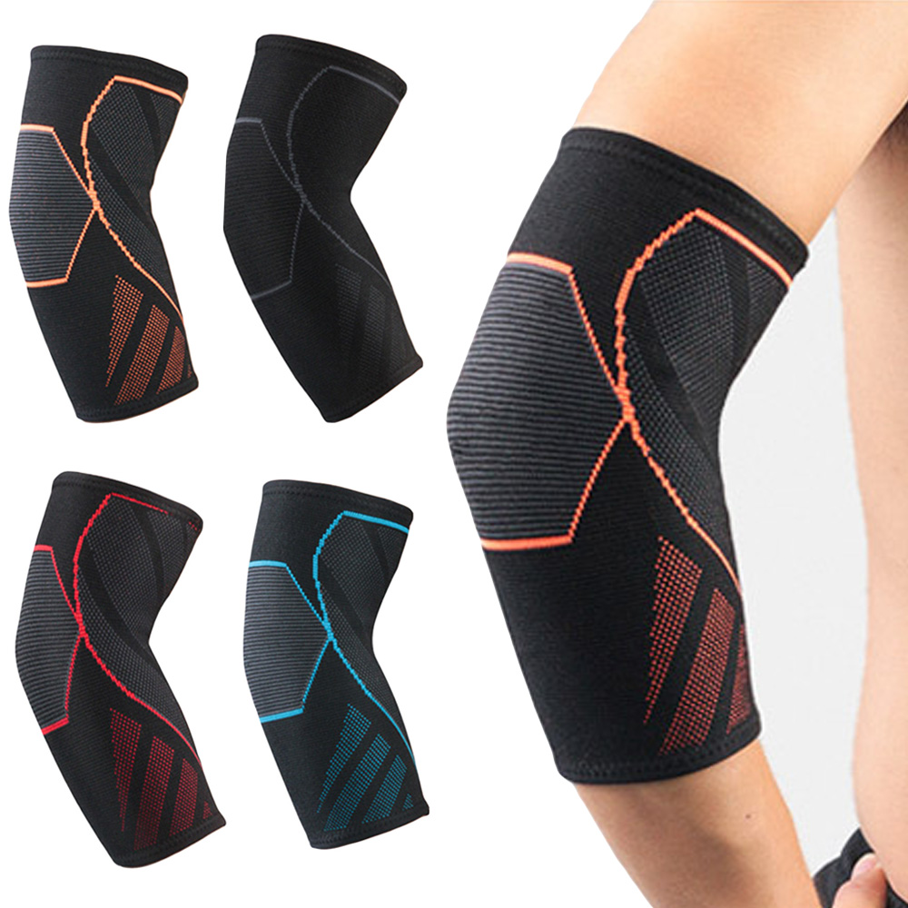 Elastic Sports Elbow Pads Support Basketball Fitness Arm Sleeve Protective Gear LFSPR0092
