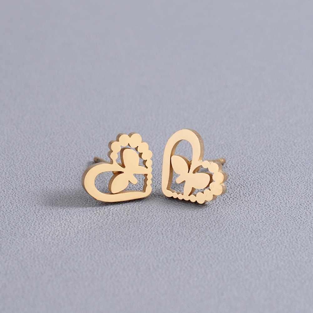 Chandler Mini Love Cat Rabbit Stud Eearrings For Women Cute Stainless Steel Earring Stud Minimalist Jewelry Accessories Gifts