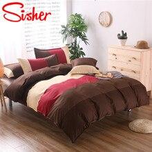 Sisher High Quality Home Textile Striped Bedding Sets Duvet Cover Set For Adult 3pcs Housse De Couette