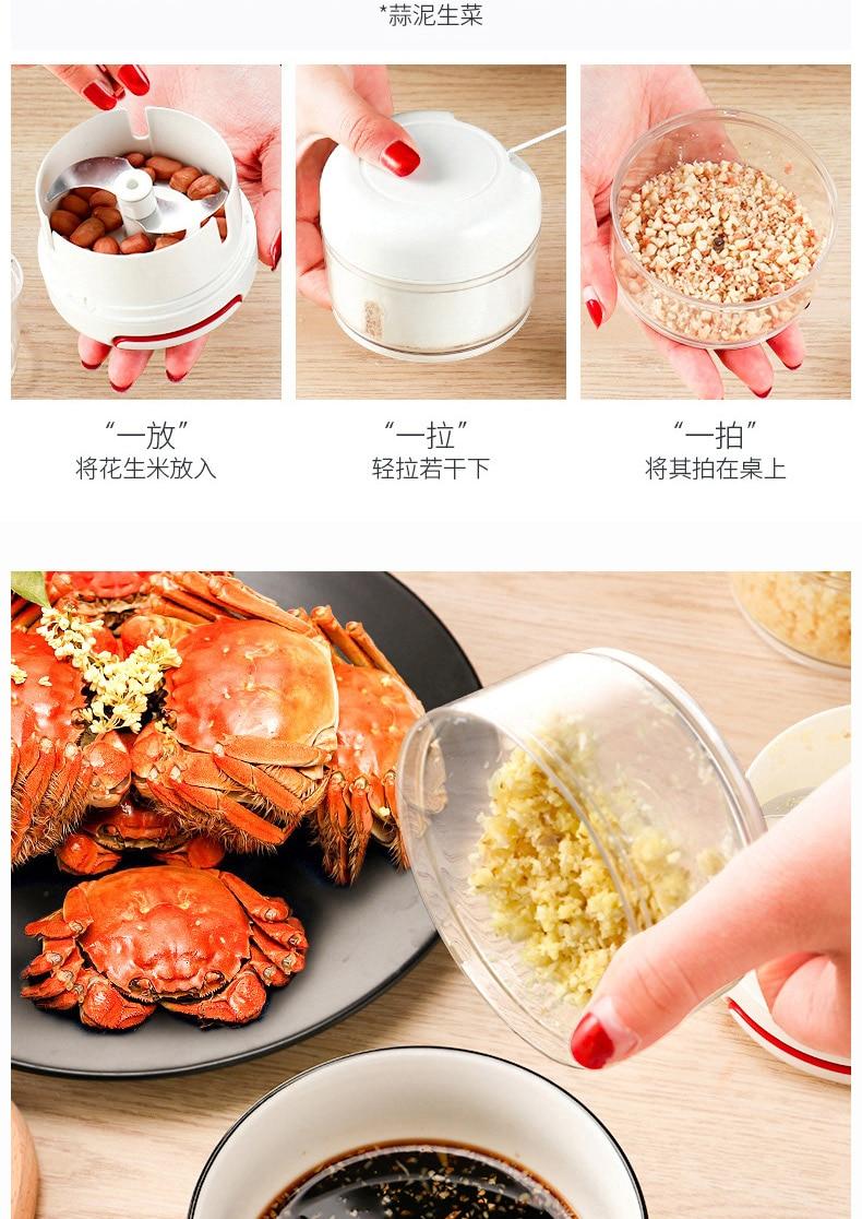 HTB1Villarj1gK0jSZFuq6ArHpXaa Mini 170ML Powerful Meat Grinder Hand-power Food Chopper Mincer Mixer Blender to Chop Meat Fruit Vegetable Nuts Shredders