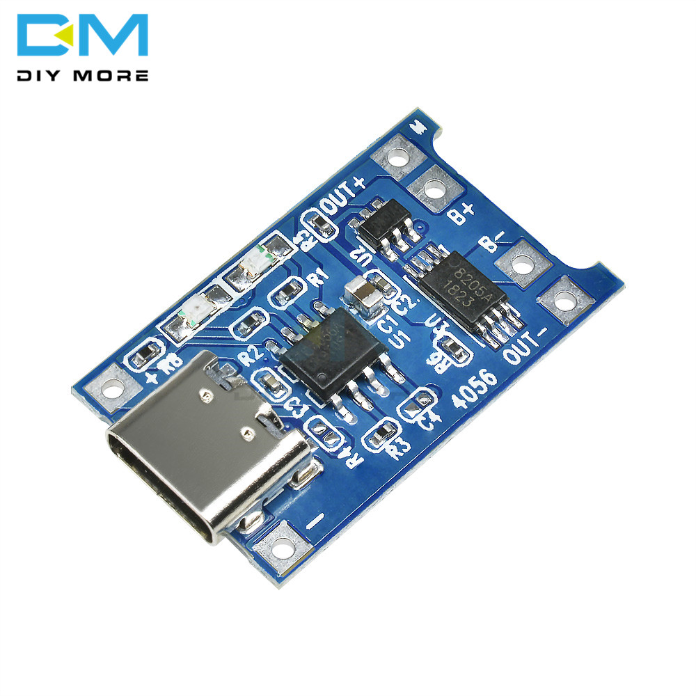 5PCS 5V 1A Type-c USB 18650 TC4056A Lithium Battery Charger Module Charging Board With Protection Dual Functions 1A Li-ion Board