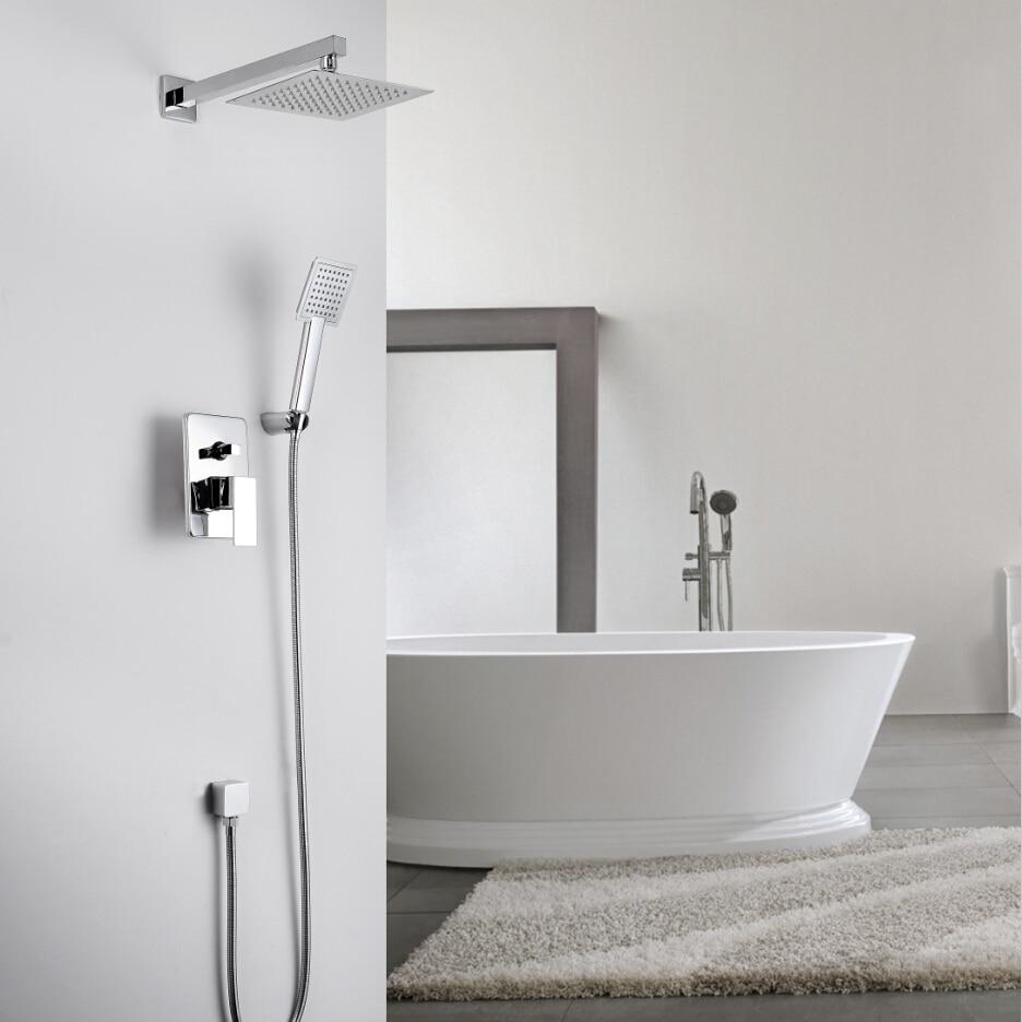 Bathroom Shower Set.Concealed Shower Faucet.200 MM (8\'\') Stainless ...