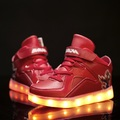 26-37 Size/2016 New USB Charging Basket Led Children Shoes With Light Up Kids Casual Boys&Girls Luminous Sneakers Glowing Shoe