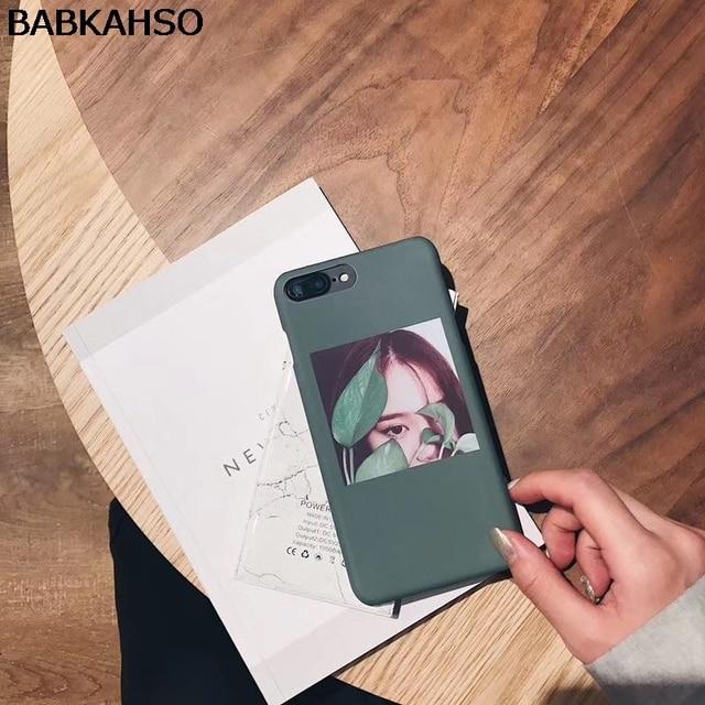 BABKAHSO illustrations girls leaves Case For iPhone 7 7Plus 8...