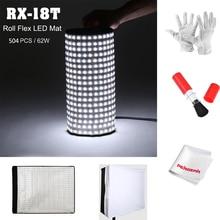 Falconeyes Portable Waterproof 62W 5500K LED Video Light 504pcs Flexible Roll LED Photography Lamp Brightness Adjust