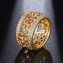 Hermosa ювелирные изделия полый дизайн многоцветные блестящие