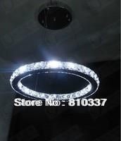 NEW 40cm Modern LED Round Crystal Lamp Diamond Ring Ceiling Light Lighting EMS FREE SHIPPING