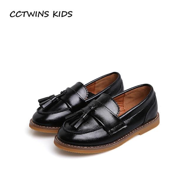 CCTWINS KIDS 2018 Spring Children Tassel Black Loafer Baby Girl Pu Leather  Slip On Shoe Toddler Fashion Fringe Flat G1680 0a8e116efc68