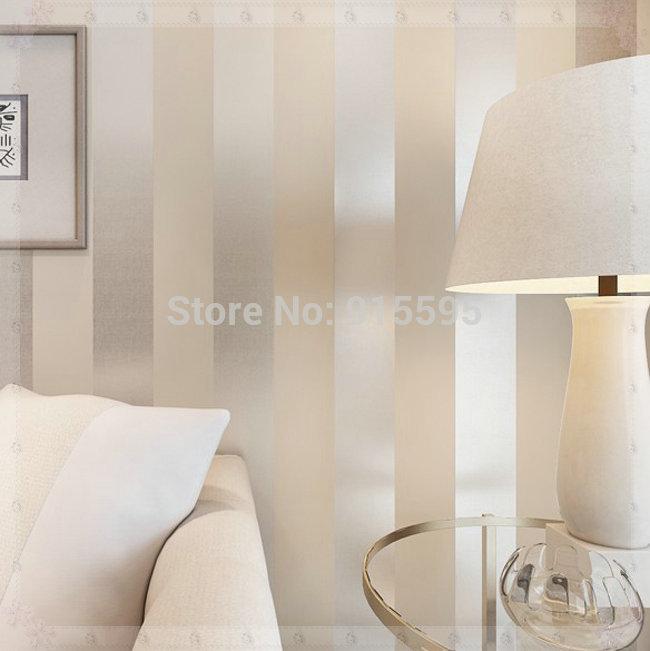 No tejido flocado papel tapiz moderno simples rayas - Papel pared rayas verticales ...