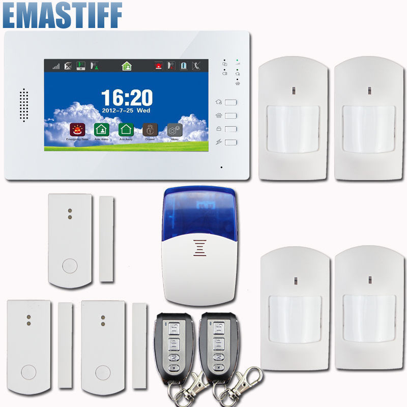 Gsm Pstn alarm system Wireless Full Touch Color Screen Alarm System X6 868MHz support smart socket,Free shipping free dhl 868mhz wireless pstn wireless alarm system gsm network smart app gsm pstn alarm gsm alarm system 868mhz