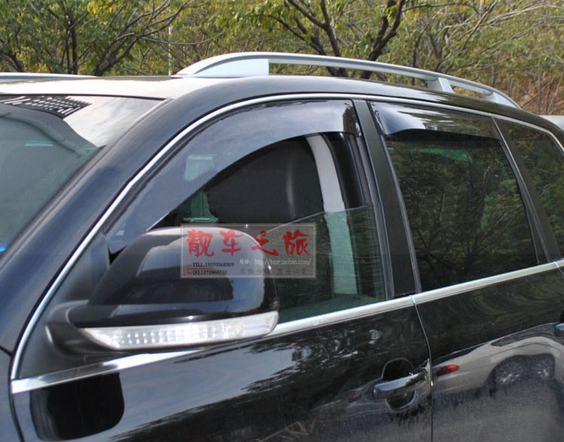 High Quality For VW Touareg 2011 2012 2013 2014 Window Visor Deflector Sun Rain Guard Shield
