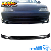 Fits 1992 1993 1994 1995 Honda Civic 4DR Mugen style Front bumper lip Black PP Global Free Shipping Worldwide