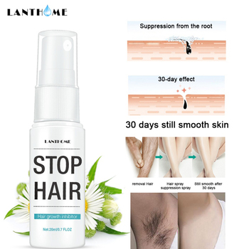 Hot 20ML Powerful Permanent Painless Hair Removal Spray Stop Hair Growth Inhibitor Shrink Pores Skin Smooth Repair Essence 30ml hair growth removal inhibitor permanent painless armpit essence facial pubic spray skin beard legs growth hair stop sm t0f9