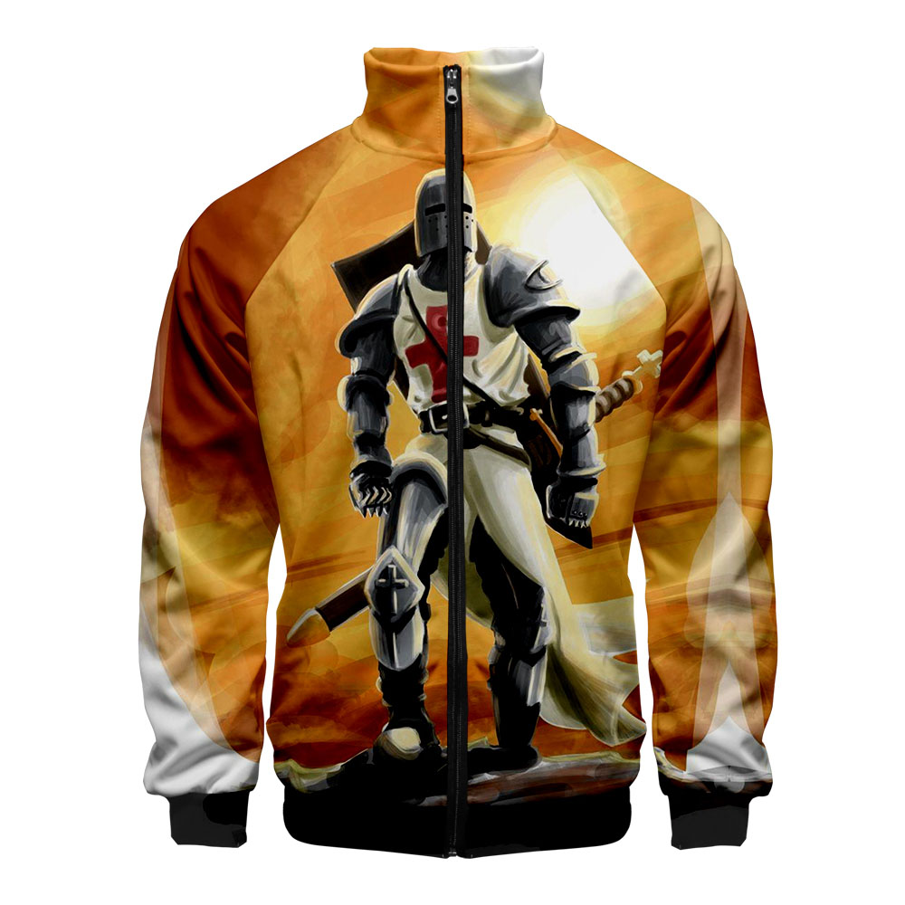 Knights Templar 2019 Kpop New 3D style Windbreaker Men Slim fit Zipper Leisure HIP HOP Fashion Trend Casual  Jacket