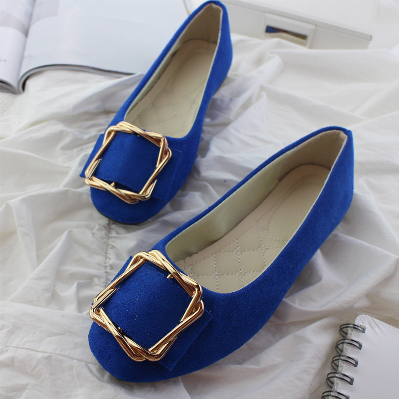 Big Size Women Flats Shallow Candy Color Shoes Woman Loafers Autumn Fashion Sweet Flat Casual Shoes Women Plus Size 35-42 3