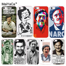 MaiYaCa Phone Cases Fashion Pablo Escobar Print Design Soft Silicone Clear TPU Case Cover for Iphone 7 6 6S 8 Plus XS XR X Coque(China)