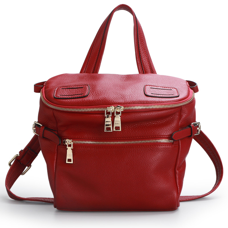 QIWANG Real Leather Handbags Women Brand Designer Handbag Burgundy LUXURY Leather Bags for Women OL Hobo