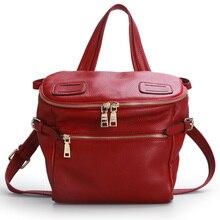 QIWANG Echt Leder Handtaschen Frauen Marke Designer Handtasche Burgund LUXUS Leder Taschen für Frauen OL Hobo Handtasche