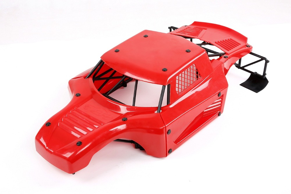 Carro rc anti acidente de corpo de náilon escudo rolo gaiola kit anti wear capa do corpo do carro para losi 5ive t lt km x2 - 2