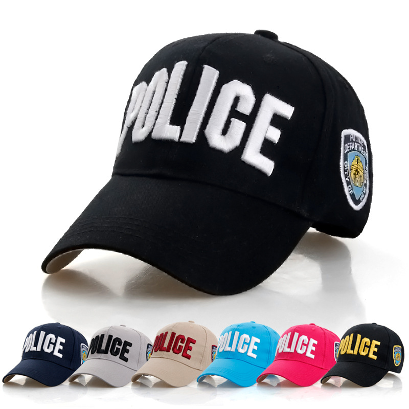 6 colors POLICE Baseball Cap Men Letter Embroidered Cotton Dad Hat for Women Casual Snapback Hat Adjustable Wholesale and retail chemo skullies satin cap bandana wrap cancer hat cap chemo slip on bonnet 10 colors 10pcs lot free ship