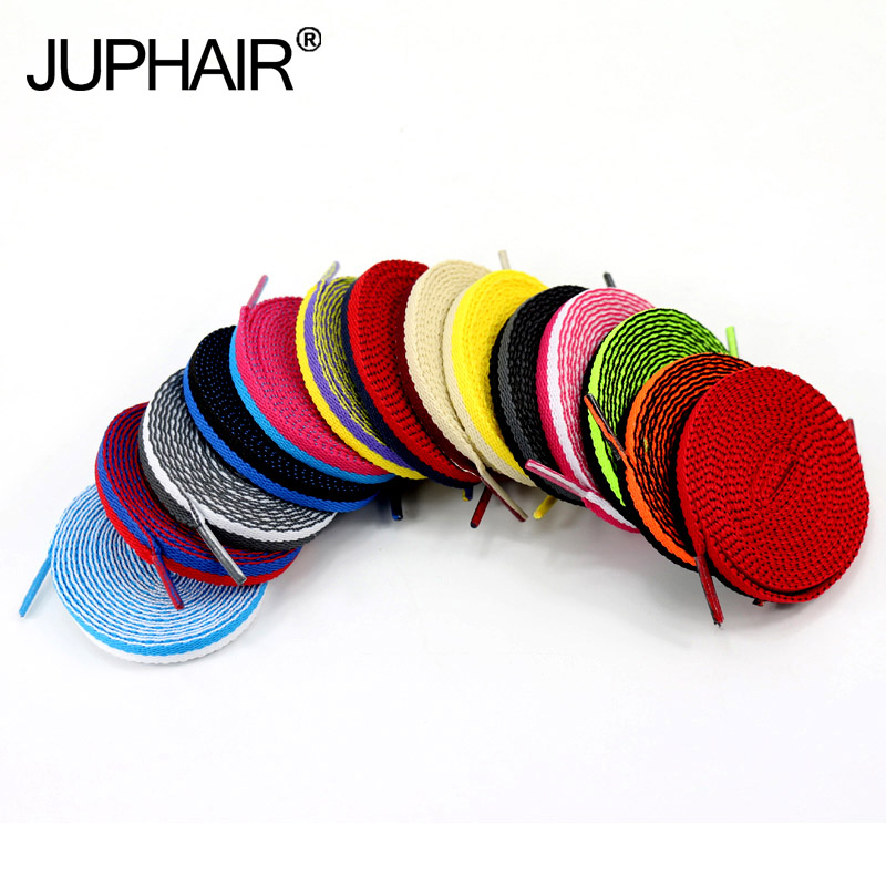 JUP 8 Pairs Athletic Women Shengdai Footwear Flat Shoelaces Colorful Bootlaces Multi Color ShoeLaces Shoes Shoestring 120-140 CM 5 pairs 1cm width british scotland plover grid style shoelaces canvas shoes sneakers flat shoes lace 70 80 90 100 110 120 130cm