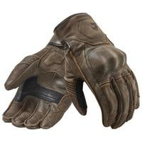 Revit Racing Palmer Gloves Motorcycle Bike Retro Urban Classic Genuine Cowhide Leather Motorbike Gloves