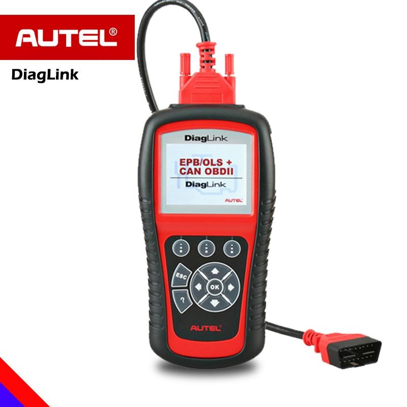 Autel Diaglink OBD2 Car Diagnostic OBD All System Scanner Automotiveo OBD 2 Code Reader with Oil Reset EPB ABS Maintenance MD802 все цены