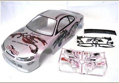 Ewellsold 190mm PVC painted 1:10  body Shell for 1:10 1/10 RC car item No 008 2pcs/lott free shipping