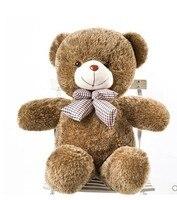 Stuffed animal 60cm brown tie Teddy bear plush toy soft doll gift w1695